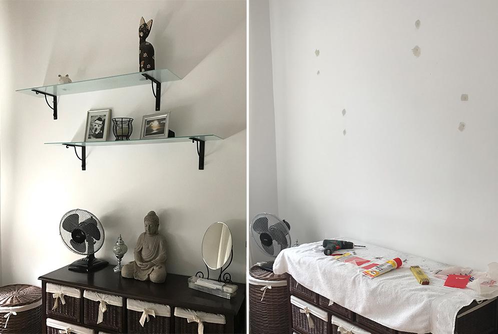 ikea hack mosslanda bilderleiste mit indirektem licht diy schmuck blog magazin. Black Bedroom Furniture Sets. Home Design Ideas