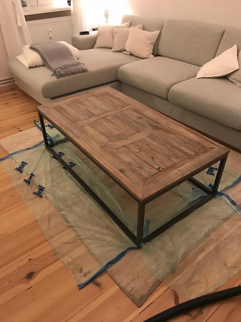 Tischplatte aufhellen