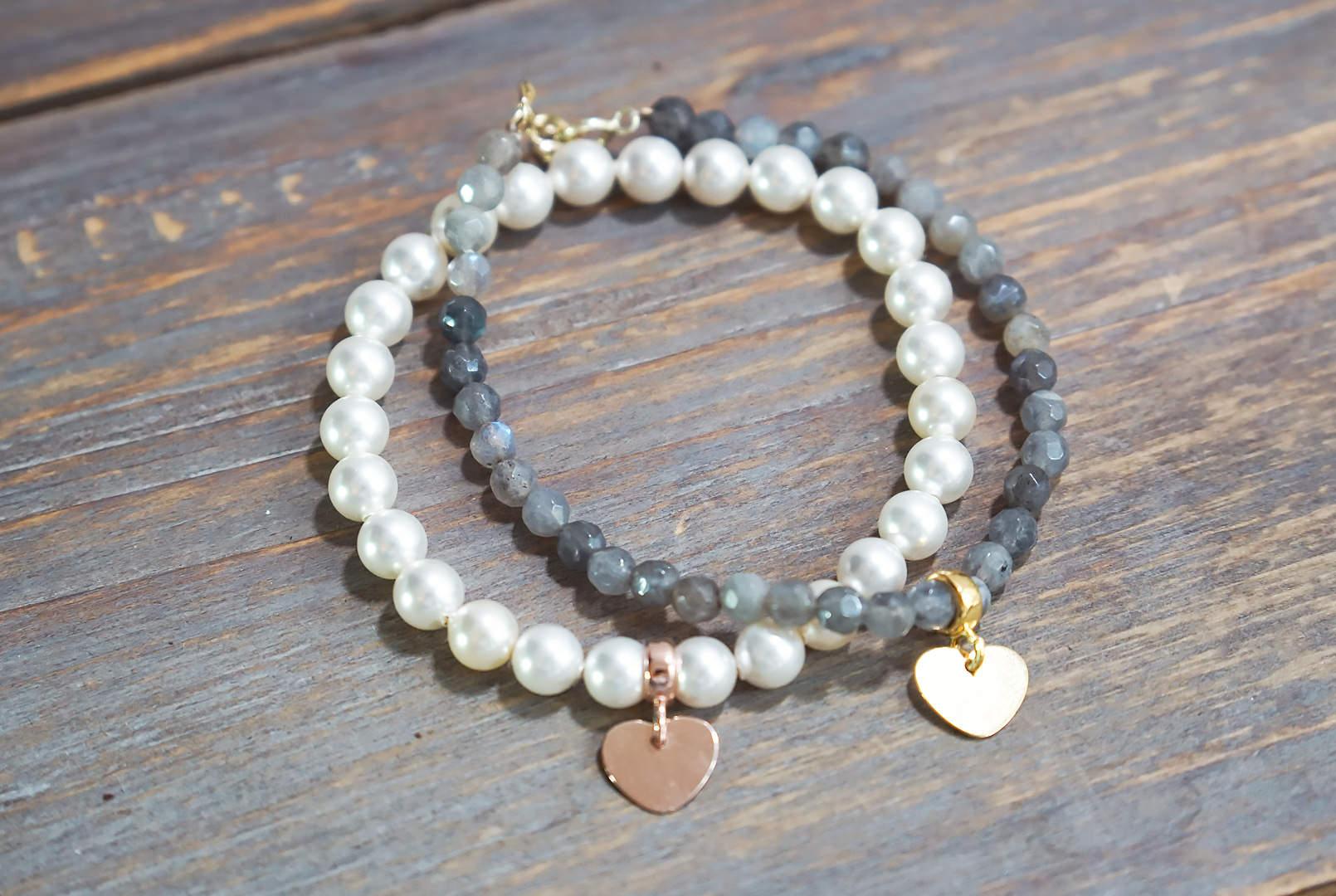 DIY Romantische Herz Armbänder