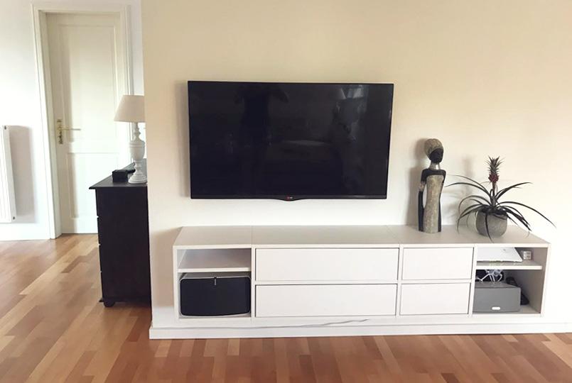 Diy Tv Lowboard Mit Akustikstoff Sound Durch Versteckte