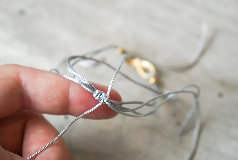 schritt3 diy armband mit schiebeverschluss