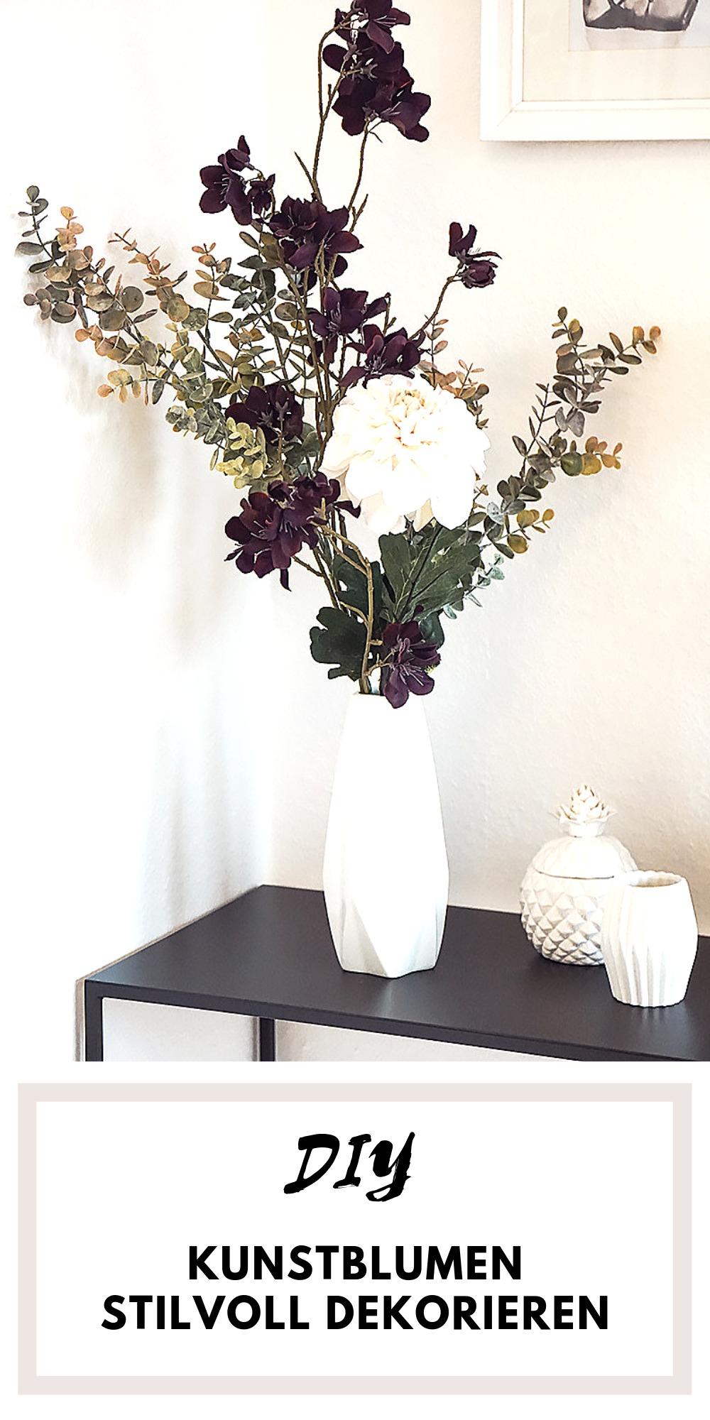 Schöne Deko mit Kunstblumen - ein paar Tipps wie ihr euch schöne Sträuße mit Kunstblumen zusammenstellen könnt.