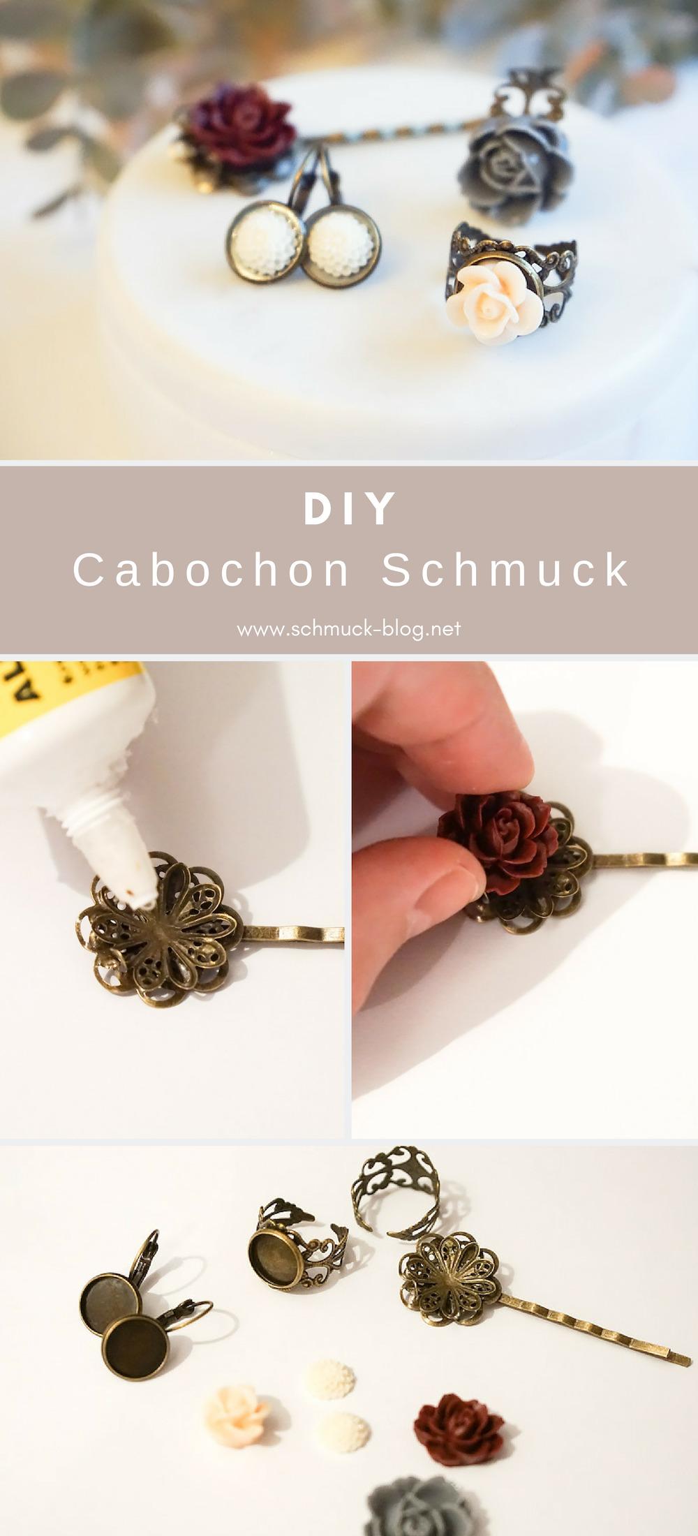 DIY Schmuck aus Messing mit verspielten Cabochons selber basteln mit dieser einfachen Anleitung.