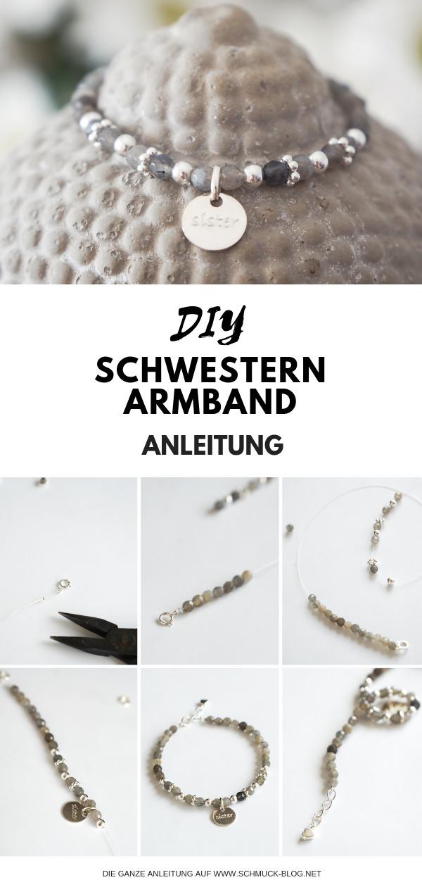 DIY Schwestern Armband Anleitung