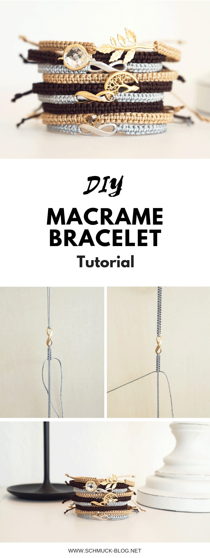 Create a simple and beautiful diy macrame bracelet with this tutorial
