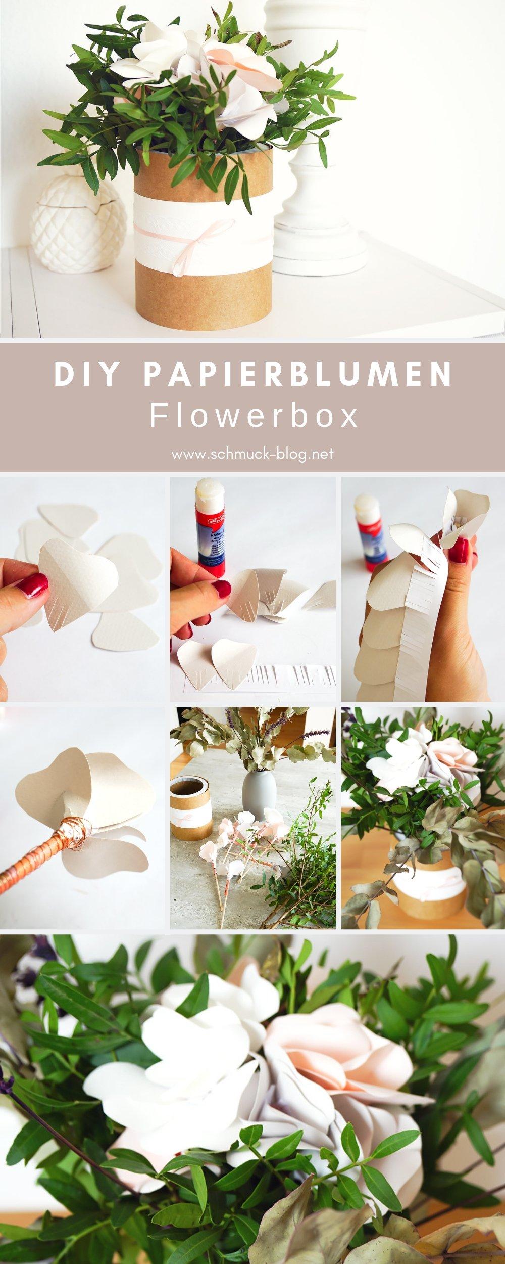 DIY Papierblumen Hochzeitsgeschenk