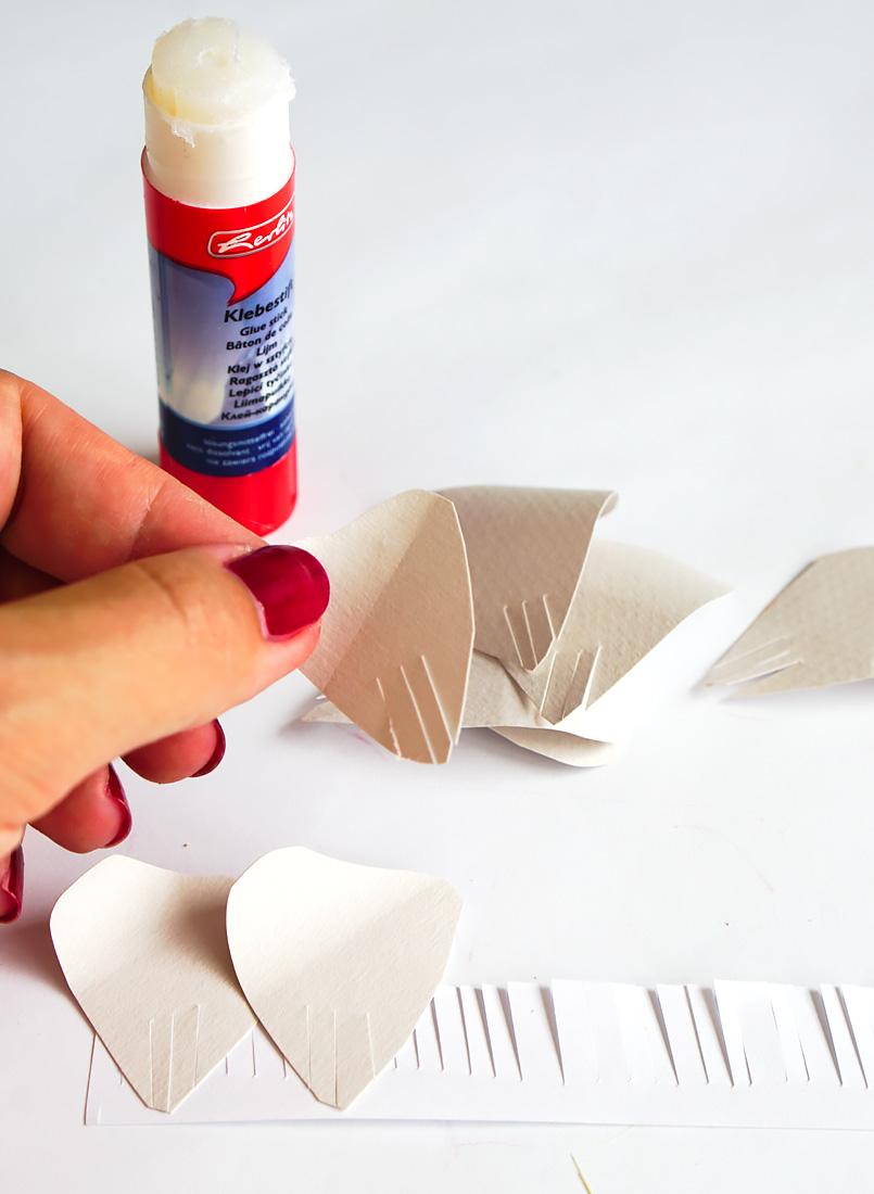 papierblume kleben