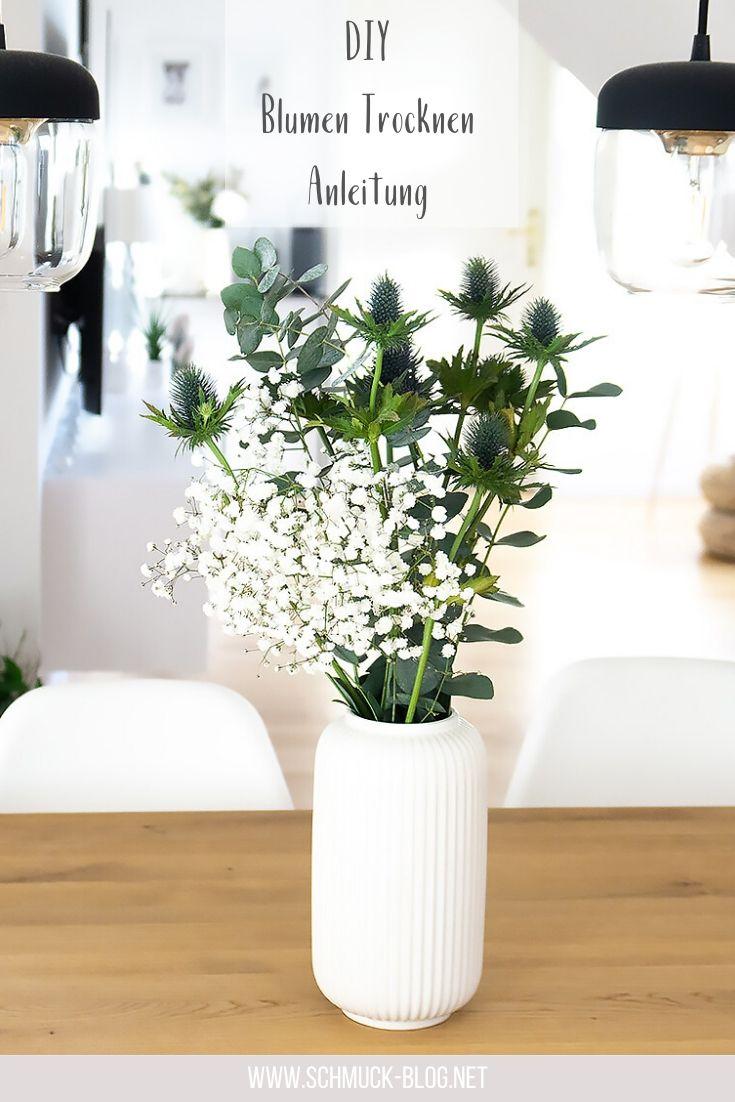Blumen ganz einfach selbst trocknen und einen wunderschönen Trockenblumenstrauß erstellen. #diy #anleitung #tutorial #diydeko #diyinterior